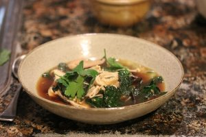 Asian style Chicken and Shiitake Mushroom soup